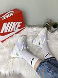 WMNS NIKE ZOOM 2K Женские осенние белые кожаные кроссовки. Женские кроссовки на шнурках, фото 5