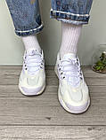 WMNS NIKE ZOOM 2K Женские осенние белые кожаные кроссовки. Женские кроссовки на шнурках, фото 6