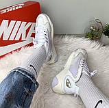 WMNS NIKE ZOOM 2K Женские осенние белые кожаные кроссовки. Женские кроссовки на шнурках, фото 7