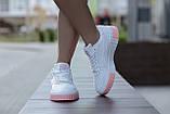 Puma Cali Женские осенние белые кожаные кроссовки. Женские кроссовки на шнурках, фото 2