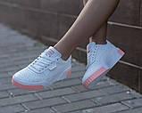 Puma Cali Женские осенние белые кожаные кроссовки. Женские кроссовки на шнурках, фото 3