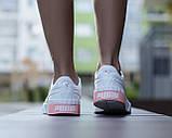 Puma Cali Женские осенние белые кожаные кроссовки. Женские кроссовки на шнурках, фото 4