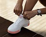 Puma Cali Женские осенние белые кожаные кроссовки. Женские кроссовки на шнурках, фото 5