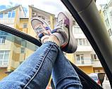 Nike Air Force Shadow  Женские осенние серые кожаные кроссовки. Женские кроссовки на шнурках, фото 6