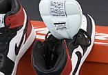 Air Jordan 1 Retro Женские осенние черно-красные кожаные кроссовки. Женские кроссовки на шнурках, фото 7