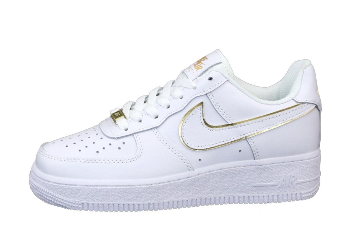 Nike Air Force Женские осенние белые кожаные кроссовки. Женские кроссовки на шнурках