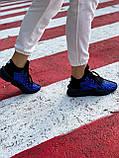 Yohji Yamamoto Kaiwa Женские осенние синие кожаные кроссовки. Женские кроссовки на шнурках, фото 7