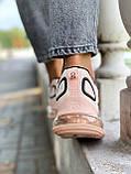 Nike Air Max 720 Женские осенние персиковые текстильные кроссовки. Женские кроссовки на шнурках, фото 3