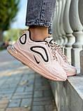Nike Air Max 720 Женские осенние персиковые текстильные кроссовки. Женские кроссовки на шнурках, фото 8