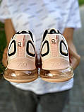 Nike Air Max 720 Женские осенние персиковые текстильные кроссовки. Женские кроссовки на шнурках, фото 9