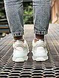 Balenciaga Triple S  Женские осенние белые кожаные кроссовки. Женские кроссовки на шнурках, фото 10