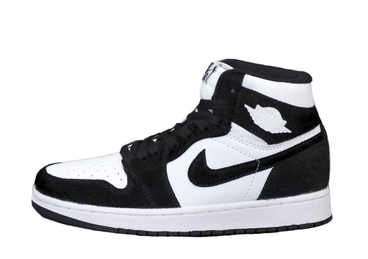 Jordan 1 Retro Женские осенние черно-белые кожаные кроссовки. Женские кроссовки на шнурках