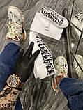 Dior B23 Low-Top Женские осенние белые текстильные кроссовки. Женские кроссовки на шнурках, фото 2