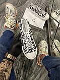 Dior B23 Low-Top Женские осенние белые текстильные кроссовки. Женские кроссовки на шнурках, фото 3