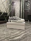 Dior B23 Low-Top Женские осенние белые текстильные кроссовки. Женские кроссовки на шнурках, фото 4