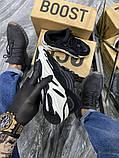 Adidas Yeezy 700 V2 Beige Женские осенние черные текстильные кроссовки. Женские кроссовки на шнурках, фото 2