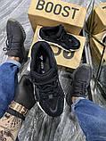 Adidas Yeezy 700 V2 Beige Женские осенние черные текстильные кроссовки. Женские кроссовки на шнурках, фото 3