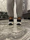 Adidas Yeezy 700 V2 Beige Женские осенние черные текстильные кроссовки. Женские кроссовки на шнурках, фото 4