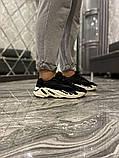 Adidas Yeezy 700 V2 Beige Женские осенние черные текстильные кроссовки. Женские кроссовки на шнурках, фото 5