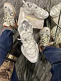 Jimmy Choo Женские осенние белые кожаные кроссовки. Женские кроссовки на шнурках, фото 2