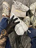 Jimmy Choo Женские осенние белые кожаные кроссовки. Женские кроссовки на шнурках, фото 3