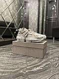 Jimmy Choo Женские осенние белые кожаные кроссовки. Женские кроссовки на шнурках, фото 4