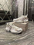 Jimmy Choo Женские осенние белые кожаные кроссовки. Женские кроссовки на шнурках, фото 5