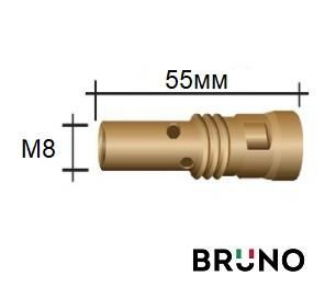 016.D114 Вставка TR18/M8/55мм