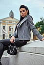 Короткое пальто женское демисезонное кашемировое серое, фото 3