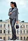 Короткое пальто женское демисезонное кашемировое серое, фото 6