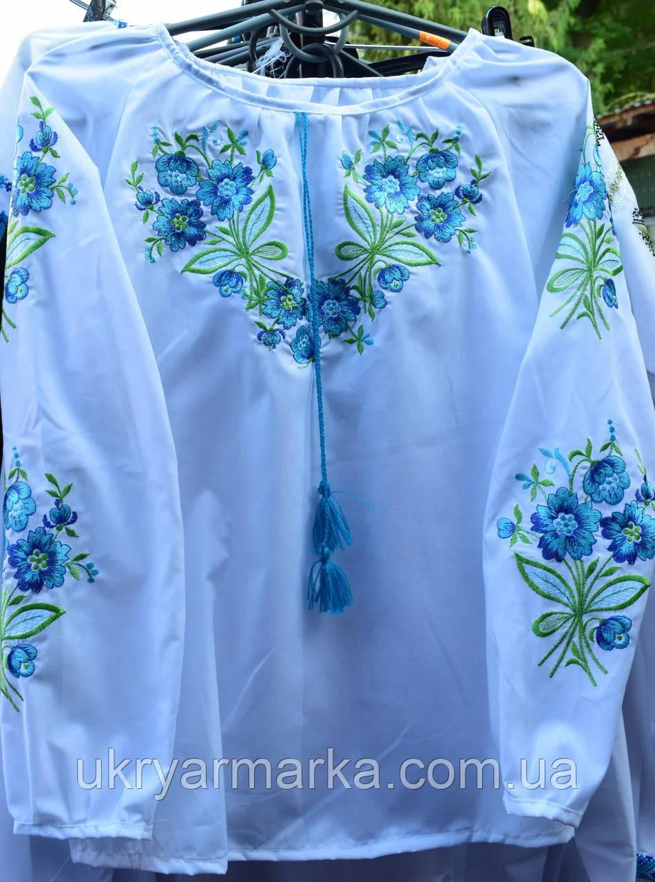 """Дитяча блузка з вишивкою """"Волошкове поле"""""""
