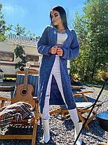 Теплый женский кардиган машинная вязка с узором, фото 3