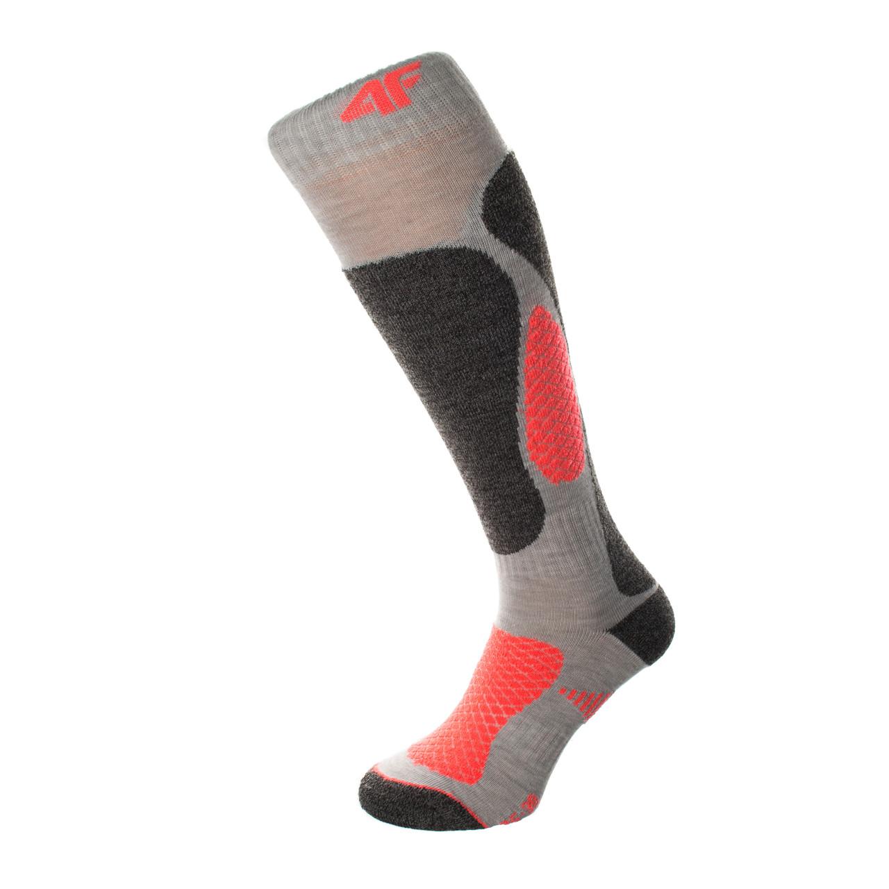 Шкарпетки лижні 4F Warm 35-38 grey-orange