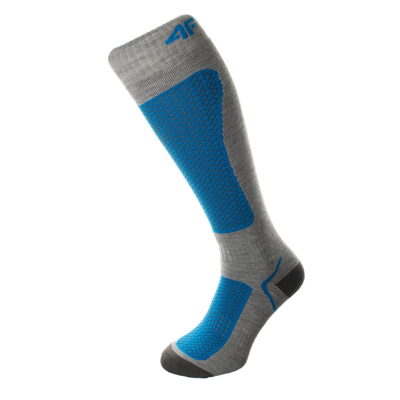 Шкарпетки лижні 4F Warm 43-46 grey-blue