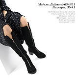 Женские сапоги на широком каблуке, фото 6