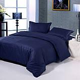 Постельное белье Сатин-страйп 1*1 Dark Blue, фото 2