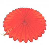 Веерный круг тишью 25см красный 0007, фото 1