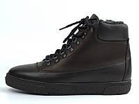 Мужские полуботинки на флисе кожаные коричневые обувь больших размеров Rosso Avangard Taiga North Lion BS, фото 1