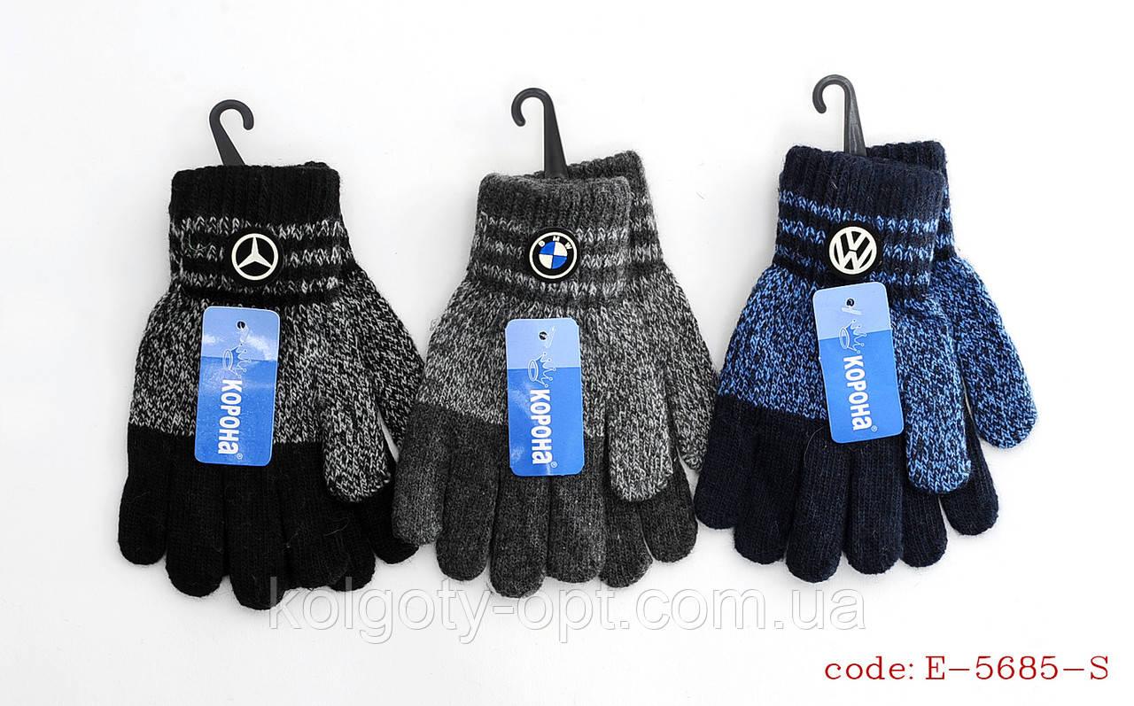 Перчатки теплые шерстяные BMW для мальчиков (продаются только от 12 пар)