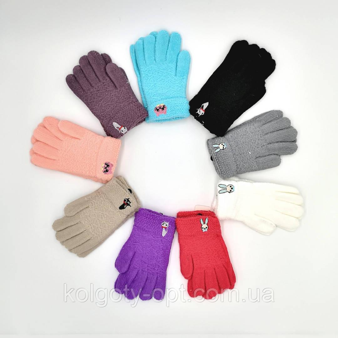 Перчатки детские зимние букле на девочек (продаются только от 12 пар)