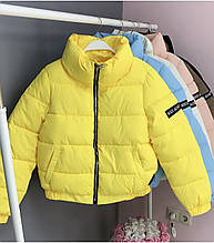 Куртка женская осенняя матовая чёрный, кофе, желтый, розовый, голубой, молоко 42,44,46