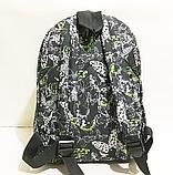 Молодежные городские рюкзаки (ПРИНТ БАБОЧКИ)30x40см, фото 2