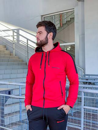 Чоловічий спортивний костюм 784 червоний, фото 2