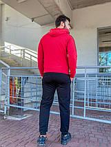 Чоловічий спортивний костюм 784 червоний, фото 3