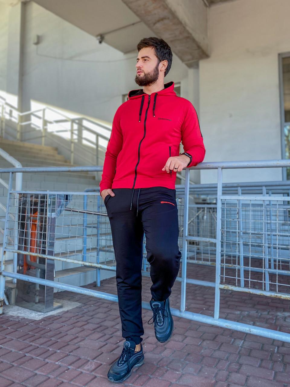 Чоловічий спортивний костюм 784 червоний