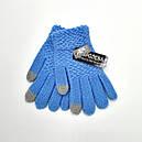 Перчатки детские букле для девочек подростков сенсорные (продаются только от 12 пар), фото 2