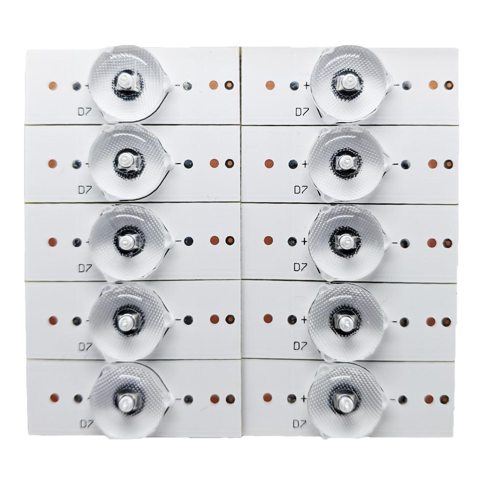 3В LED сегмент для планки лампи підсвічування РК телевізора, 10 шт