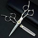 """6 """" дюймов профессиональные парикмахерские ножницы для стрижки комплект Япония JP440C Univinlions 6028, фото 6"""
