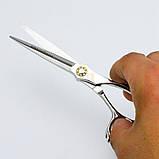 """6 """" дюймов профессиональные парикмахерские ножницы для стрижки комплект Япония JP440C Univinlions 6028, фото 10"""