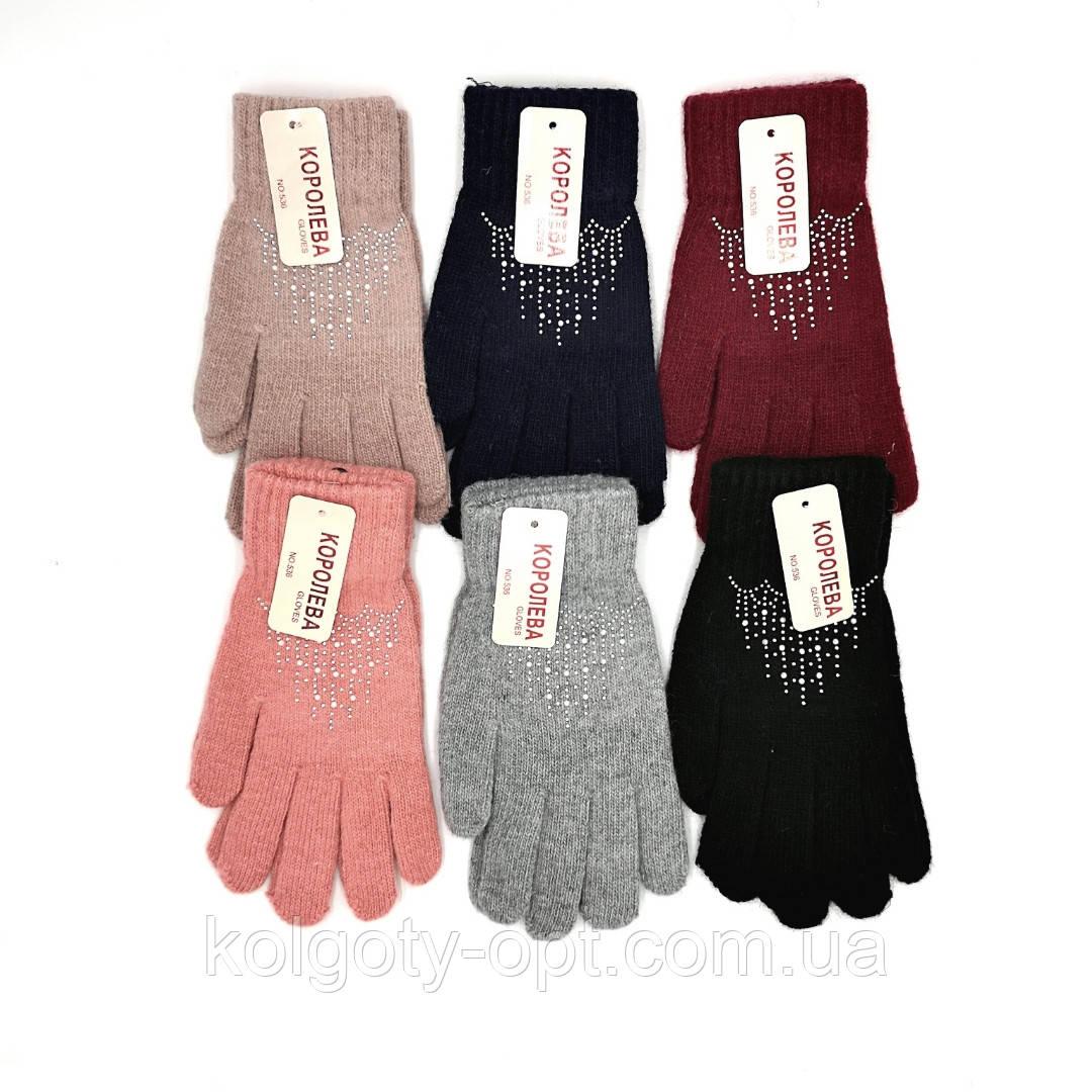 Перчатки вязанные женские зимние (продаются только от 12 пар)
